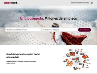 simplyhired.es screenshot