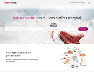 simplyhired.fr screenshot