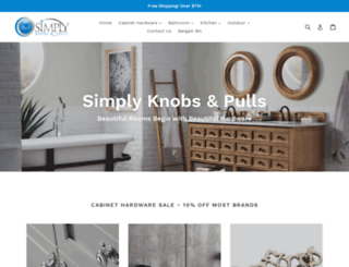 simplyknobsandpulls.com screenshot