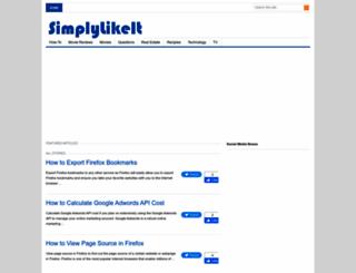 simplylikeit.com screenshot