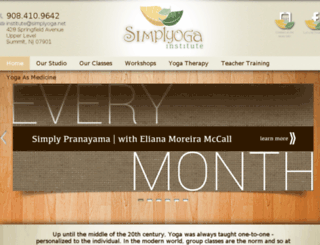 simplyoga.net screenshot