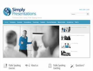 simplypresentations.co.uk screenshot