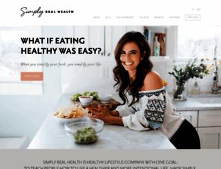 simplyrealhealth.com screenshot