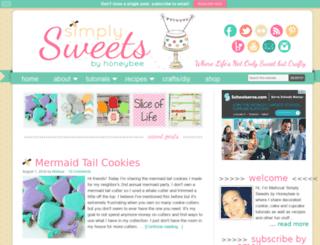 simplysweetsbyhoneybee.com screenshot