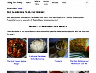 simplytrinicooking.com screenshot