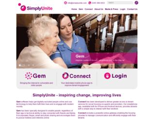 simplyunite.com screenshot
