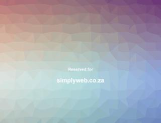 simplyweb.co.za screenshot