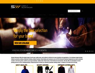 simplyworkwear.co.za screenshot