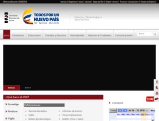 simposiovirologia.ins.gov.co screenshot