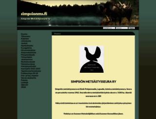 simpsionms.fi screenshot