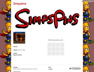 simpspins.storenvy.com screenshot