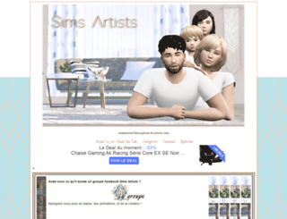 sims-artists.com screenshot
