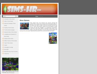 sims-hr.com screenshot