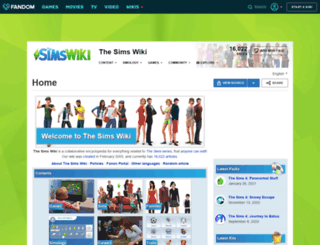 sims.wikia.com screenshot
