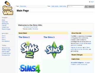 sims2wiki.info screenshot