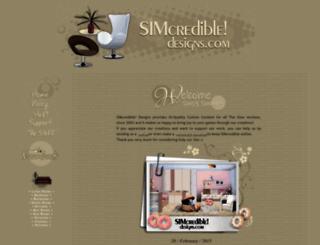 sims3.simcredibledesigns.com screenshot