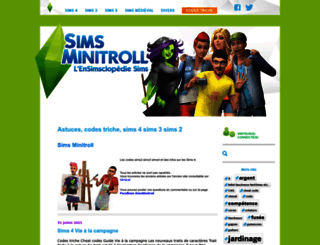 simsminitroll.com screenshot