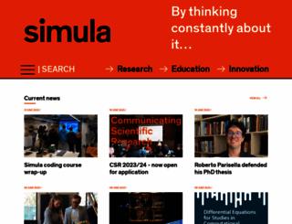 simula.no screenshot