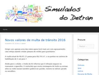 simuladosdodetran.com screenshot