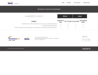 simulavalorhospedagem.sescgo.com.br screenshot