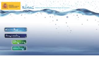 sinac.msc.es screenshot
