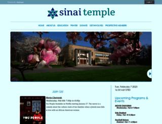 sinai-temple.org screenshot