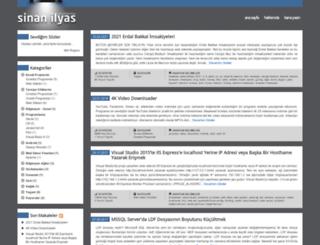 sinanilyas.com screenshot