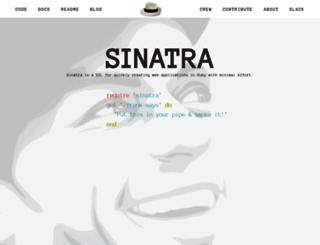 sinatrarb.com screenshot