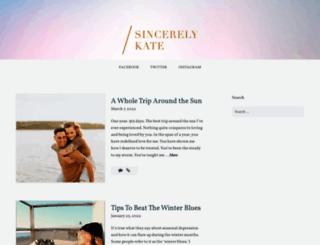sincerelykate.com screenshot