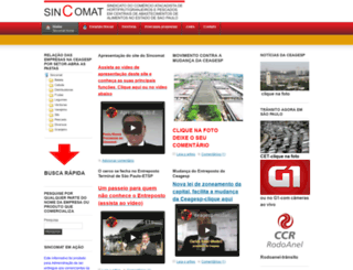 sincomat.com.br screenshot