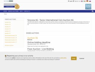 sincona.bidinside.com screenshot
