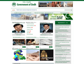 sindh.gov.pk screenshot