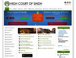 sindhhighcourt.gov.pk screenshot