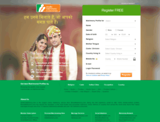 sindhi.matrimony.com screenshot