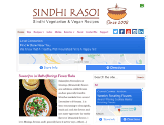 sindhirasoi.com screenshot