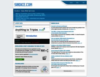 sindice.com screenshot