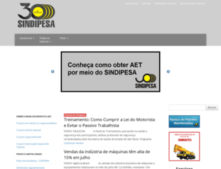 sindipesa.com.br screenshot