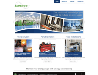 sinergy-meters.com screenshot