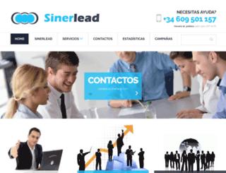 sinerlead.com screenshot