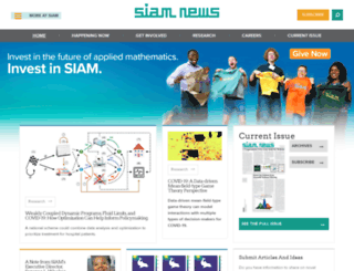 sinews.siam.org screenshot