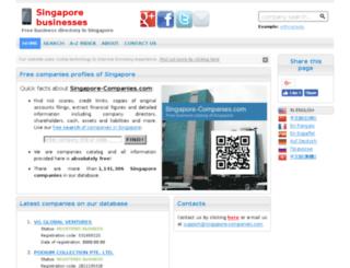 singapore-companies.com screenshot