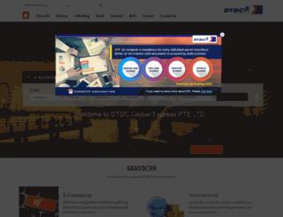 singapore.dtdc.com screenshot