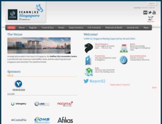 singapore52.icann.org screenshot