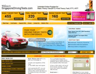 singaporedrivingtests.com screenshot