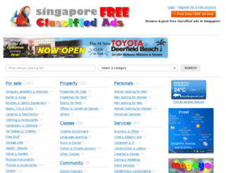 singaporefreeclassifiedads.com screenshot