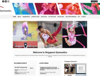 singaporegymnastics.org.sg screenshot