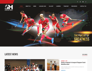 singaporehockey.org screenshot