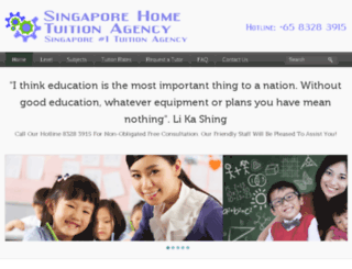 singaporehometuitionagency.com screenshot