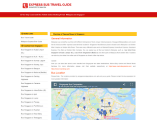 singaporemalaysiabus.com screenshot