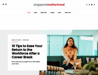 singaporemotherhood.com screenshot